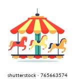 Bright Carousel Icon Isolated...