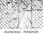 grunge black and white pattern. ... | Shutterstock . vector #765664105