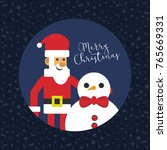 merry christmas santa with... | Shutterstock .eps vector #765669331