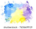 abstract watercolor stains ... | Shutterstock . vector #765669919