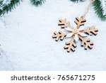 christmas frame with the... | Shutterstock . vector #765671275