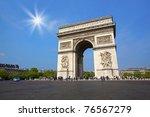 paris   may 30  arc de triomphe ... | Shutterstock . vector #76567279