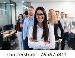 group picture of business team... | Shutterstock . vector #765675811