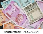 the brand new indian currency...   Shutterstock . vector #765678814