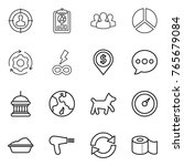 thin line icon set   target... | Shutterstock .eps vector #765679084