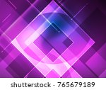 glowing squares in the dark ... | Shutterstock .eps vector #765679189