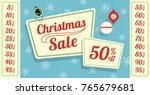 retro styled christmas sale tag.... | Shutterstock .eps vector #765679681