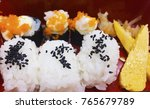 Sushi Is A Japanese Food.in Th...