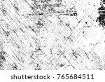 grunge black and white pattern. ... | Shutterstock . vector #765684511