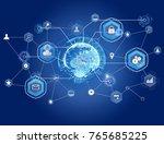 view of a international... | Shutterstock . vector #765685225