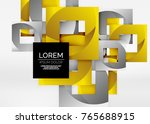 squares geometric shapes in... | Shutterstock .eps vector #765688915