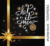 let it snow inscription on... | Shutterstock .eps vector #765690061