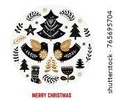 christmas illustration with...   Shutterstock .eps vector #765695704
