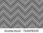 seamless pattern with striped... | Shutterstock .eps vector #765698545