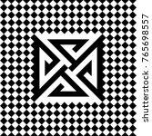 seamless tile with black white... | Shutterstock .eps vector #765698557