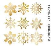 set of beautiful golden... | Shutterstock .eps vector #765701461