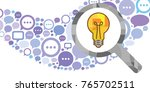 vector illustration of comments ... | Shutterstock .eps vector #765702511