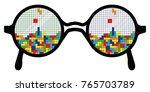 vector illustration of glasses... | Shutterstock .eps vector #765703789