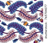 seamless pattern with fantasy... | Shutterstock .eps vector #765704077