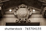 bath coat of arms  english...   Shutterstock . vector #765704155