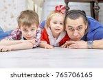 portrait of friendly family... | Shutterstock . vector #765706165