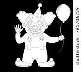 a cute halloween costume. a boy ... | Shutterstock .eps vector #765706729
