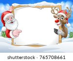a christmas background with... | Shutterstock .eps vector #765708661