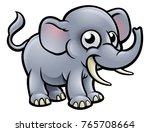 an elephant safari animals... | Shutterstock .eps vector #765708664