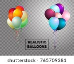 balloons isolated colorful... | Shutterstock .eps vector #765709381