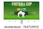 european football  soccer cup... | Shutterstock .eps vector #765715915