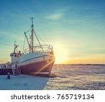 Old Fisherman Iron Boat In...