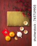 flat lay chinese new year food... | Shutterstock . vector #765719905