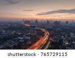 skyscrapers in bangkok city ...   Shutterstock . vector #765729115