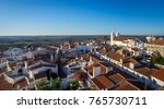 landscape over the village of... | Shutterstock . vector #765730711