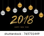 happy new year background with... | Shutterstock .eps vector #765731449