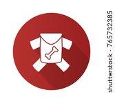 pet's clothes flat design long... | Shutterstock .eps vector #765732385