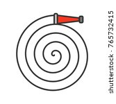 fire hose color icon.... | Shutterstock .eps vector #765732415