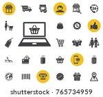 online shopping icon on white...