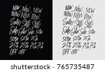 big sale discount lettering...   Shutterstock .eps vector #765735487