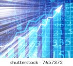 electronic stock numbers going... | Shutterstock . vector #7657372
