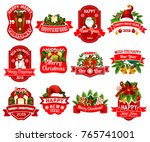 christmas and new year holiday... | Shutterstock .eps vector #765741001