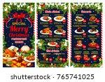 christmas cuisine restaurant... | Shutterstock .eps vector #765741025