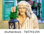 scrooge standing outside a...   Shutterstock . vector #765741154