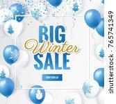 big winter sale design template.... | Shutterstock .eps vector #765741349