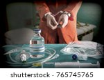 prisoner handcuffed to death by ... | Shutterstock . vector #765745765