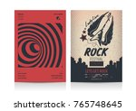 set of rock music flyer layout... | Shutterstock .eps vector #765748645