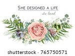 vector floral bouquet design ... | Shutterstock .eps vector #765750571