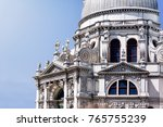 close up of a building facade.   Shutterstock . vector #765755239