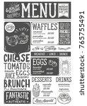 brunch food menu for restaurant ... | Shutterstock .eps vector #765755491