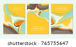 abstract fluid colors... | Shutterstock .eps vector #765755647